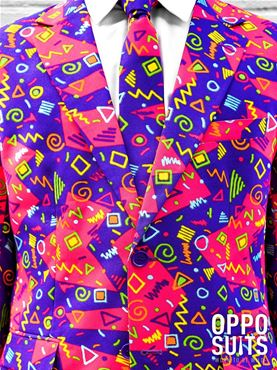 Adult The Fresh Prince Oppo Suit - Back View