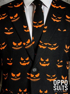 Adult Black Jack-O-Lantern Oppo Suit - Back View