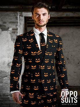 Adult Black Jack-O-Lantern Oppo Suit
