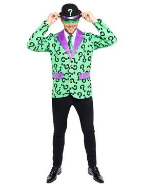 Adult The Riddler Costume Couples Costume