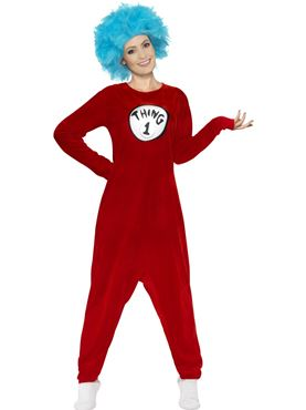 Adult Thing 1 or 2 Costume