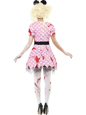 Adult Zombie Minnie Rodent Costume - Side View