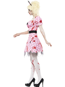 Adult Zombie Minnie Rodent Costume - Back View