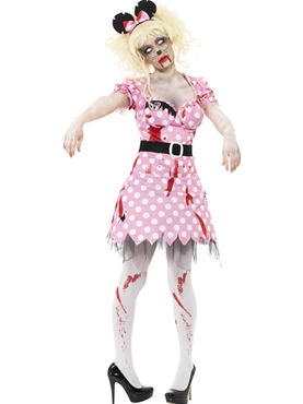 Adult Zombie Minnie Rodent Costume