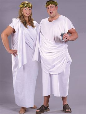 Adult Unisex Plus Size Toga Costume