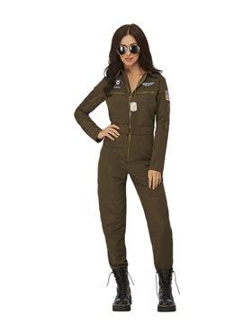 Adult Top Gun Maverick Ladies Aviator Costume Couples Costume