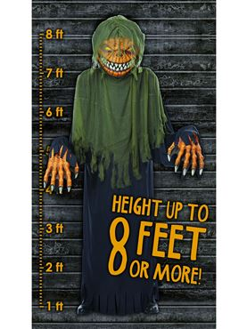 Adult Towering Terror Pumpkin - Side View
