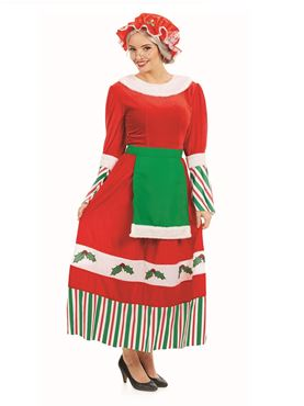 Adult Traditional Mrs Claus Costume