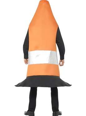 Adult Traffic Cone Costume - Side View