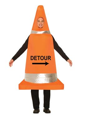 Adult Traffic Cone Costume Couples Costume