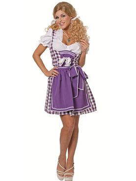 Adult Tyrolean Purple Dress Costume