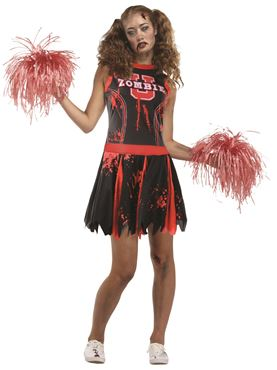 Adult Undead Cheerleader Costume Thumbnail