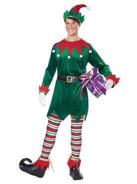 Adult Unisex Christmas Elf Costume - Back View