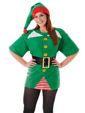 Adult Unisex Jolly Elf Kit - Back View