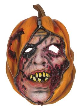 Adult Unzipped Pumpkin Mask