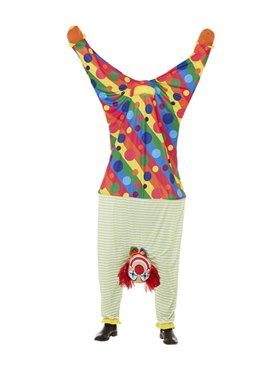 Adult Upside Down Clown Costume - Back View