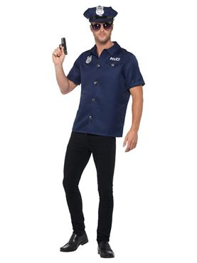 Adult US Cop Costume - Side View