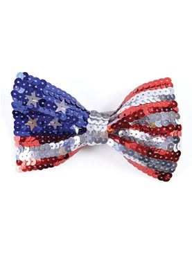 Adult USA Sequin Bow Tie