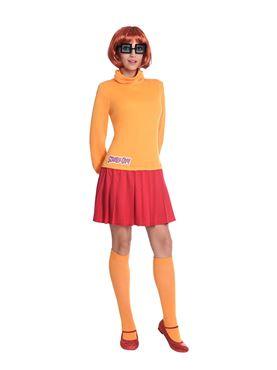 Adult Velma Scooby Doo Costume - Back View
