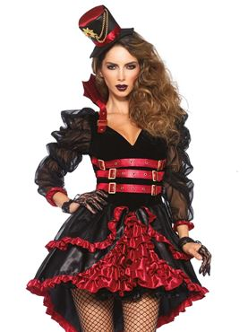 Adult Victorian Vamp Costume - Side View