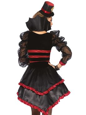 Adult Victorian Vamp Costume - Back View