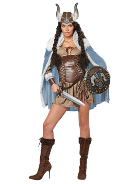 Adult Viking Vixen Costume Couples Costume