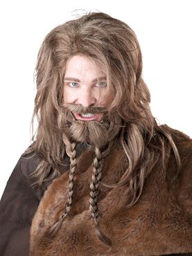 Adult Viking Wig & Beard Set