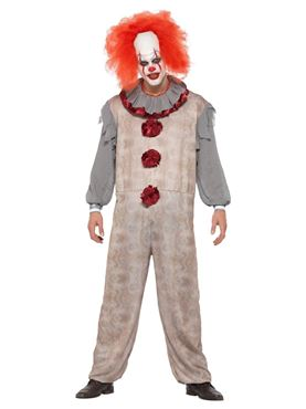 Adult Vintage Clown Costume - Side View