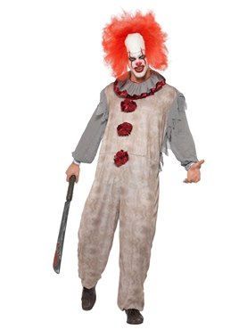 Adult Vintage Clown Costume Couples Costume