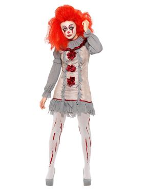 Adult Vintage Clown Lady Costume - Side View