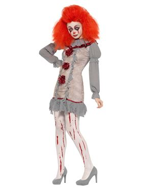 Adult Vintage Clown Lady Costume - Back View