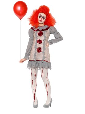 Adult Vintage Clown Lady Costume Couples Costume