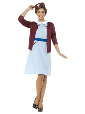 Adult Vintage Nurse Costume - Side View