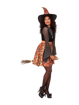 Adult Vintage Witch Costume - Side View