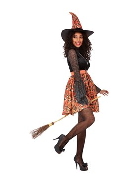 Adult Vintage Witch Costume - Back View