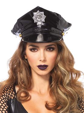 Adult Vinyl Police Hat
