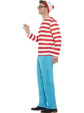 Adult Wheres Wally Costume - Back View