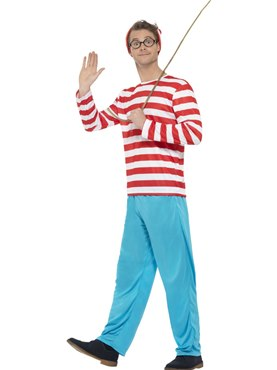 Adult Wheres Wally Costume Couples Costume