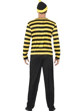 Adult Where's Wally Odlaw Costume - Side View