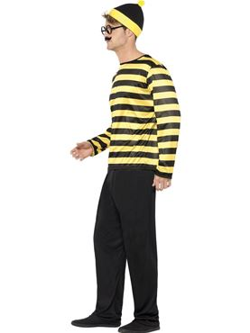 Adult Where's Wally Odlaw Costume - Back View