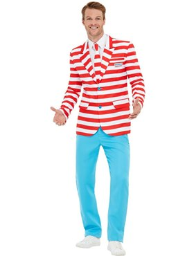 Adult Where's Wally Suit - Back View