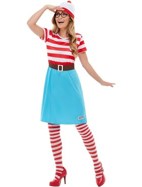 Adult Where's Wally Wenda Costume