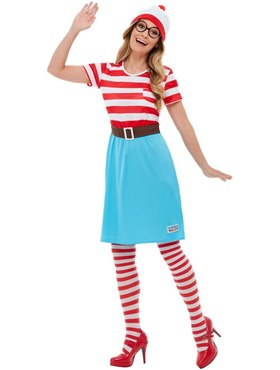Adult Where's Wally Wenda Costume - Back View