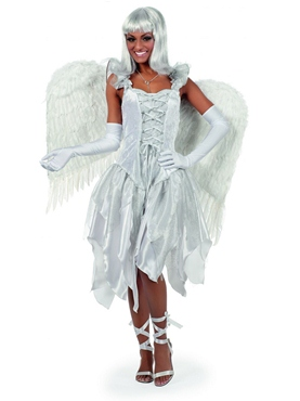 Adult White Fairytale Angel Costume