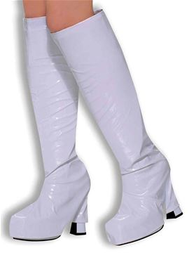 Adult White Gogo Boot Tops