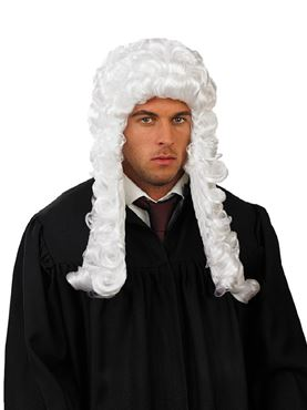Adult White Judges Wig