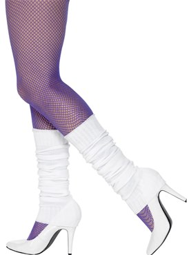Adult White Leg Warmers