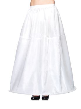 Adult Deluxe White Long Hooped Skirt