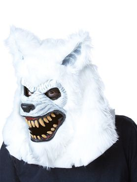 Adult White Lycan Ani Motion Mask