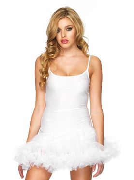 Adult White Petticoat Dress